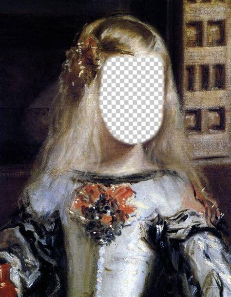 fotomontajes en cuadros para fotos fotomontaje del cuadro de la infanta margarita de