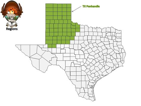 panhandle of texas map tx panhandle