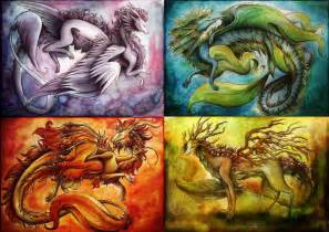 the four element dragons 4 elements pinterest the o