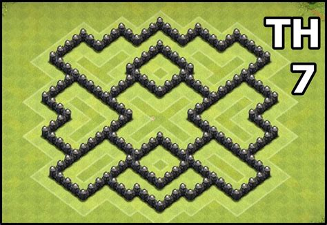 layout of coc th7 youtube kids clash of clans town hall 7 coc th7 base