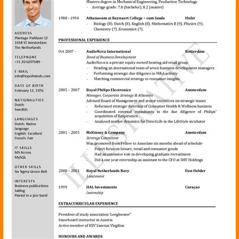 layout of a standard cv cv format english free download image collections