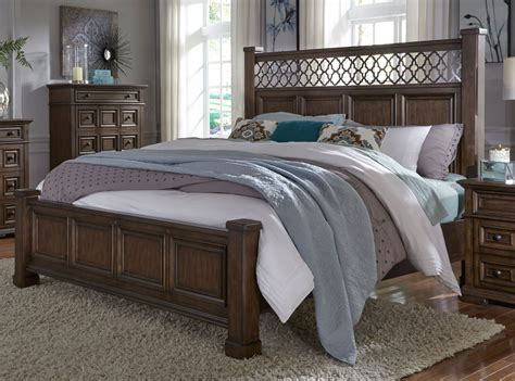 traditional cordovan brown  piece queen bedroom set lucca rc willey furniture store