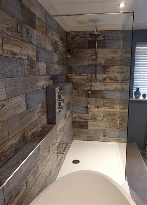 wood tile bathroom reclaimed wood s bathroom transformation walls