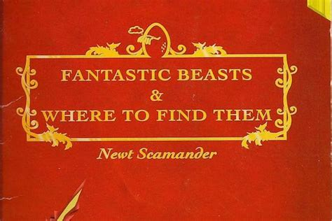 Where To Buy Covers Fantastic Beasts And Where To Find Them Title Design