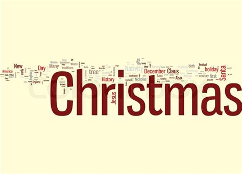 christmas word cloud stock vector colourbox