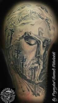 20 holy jesus tattoos art and design