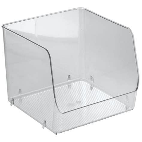 clear stackable storage containers stackable clear plastic storage bin large in home