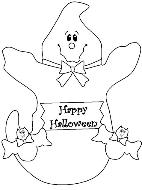 halloween coloring pages of ghosts happy halloween coloring page coloring home