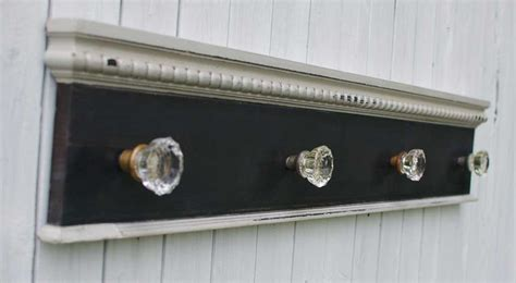 Door Knob Coat Rack by Antique Glass Door Knob Coat Rack On Reclaimed Wood Large