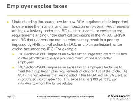 irc section 4980h executive compensation changes you cannot afford to ignore
