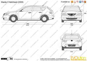 the blueprints vector drawing mazda 3 hatchback