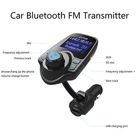 Bluetooth Audio Receiver Fm Transmitter With Usb Car Charger fm transmitter otium bluetooth wireless radio adapter audio import it all