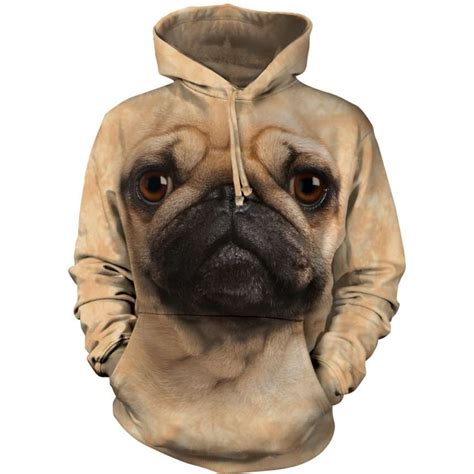pug with hoodie pug hoodie clothingmonster