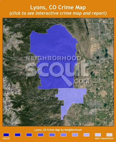 map of colorado lyons lyons co crime rates and statistics neighborhoodscout