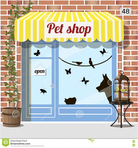 Store Awnings Prices Pet Shop Store Stock Vector Image 76971823
