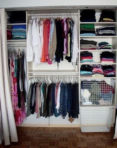 Baskets For Closet Organization by Closet Idea Clothes Closet Organization
