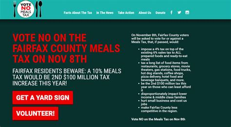 Fairfax County Property Records Muddled Arguments For The Fairfax County Meals Tax