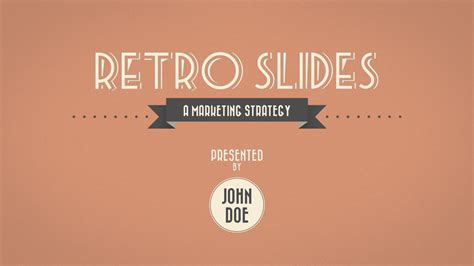 Retro Slides   PowerPoint Template (Widescreen) by