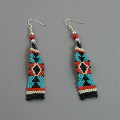 how to make american beaded earrings american tapestry beaded earrings sirocco
