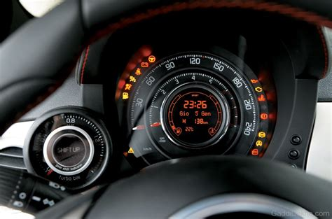500 to meters abarth 500 speed meter car pictures images gaddidekho