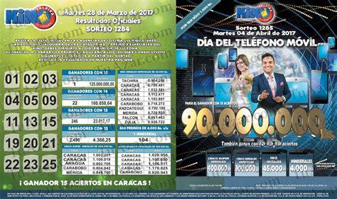 loteria kino tachira sorteo nro 1231 tuazar loter 237 a kino t 225 chira sorteo nro 1284 listado 171 tuazar