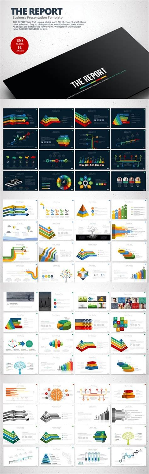 powerpoint templates nulled creativemarket the report powerpoint template 128888