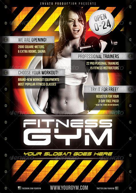 fitness gym flyer template  danielkemeny graphicriver