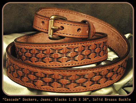Handcrafted Leather Belts - handmade leather belt for dockers and dress light
