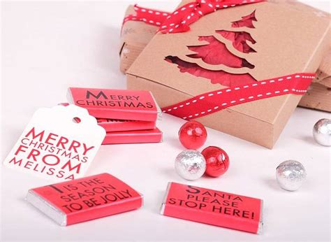 christmas notes gift box by tailored chocolates and gifts
