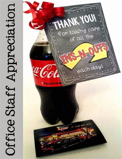 In N Out Burger Gift Card - staff appreciation offices and free printable tags on pinterest