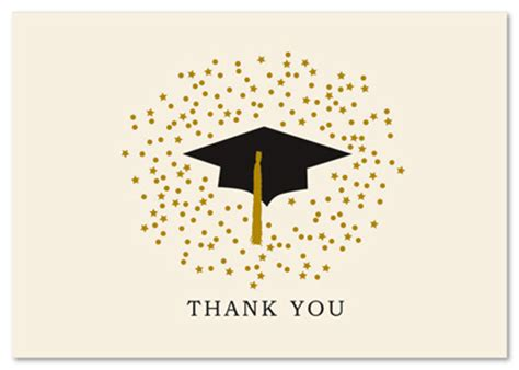 thank you card cover template best modern graduation thank you card exle with
