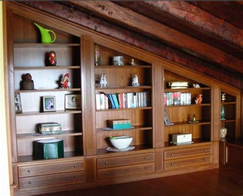libreria per mansarda arredo mansarda roma