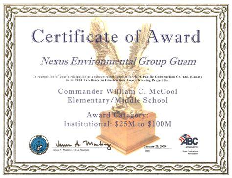 6 certificate of merit template handyman resume