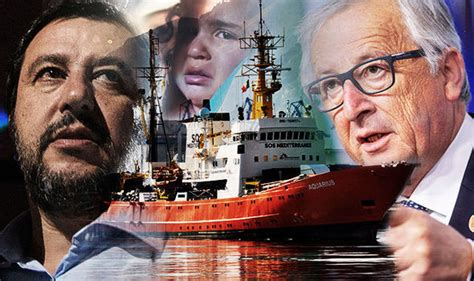 refugee boat italy spain eu threatens to tear itself apart as migration row erupts