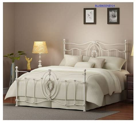 White Iron Beds by Ashdyn Home Antique White Iron Metal Bed