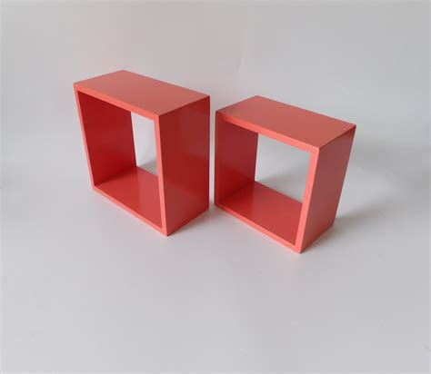 coral floating shelves shelf square cube by