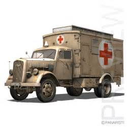 opel blitz ww2 3d opel blitz ambulance model
