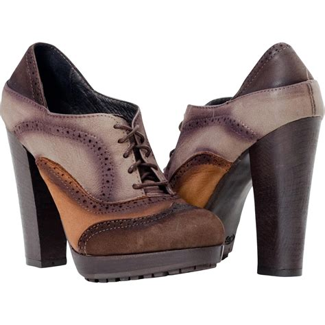 Clementine 3 Color Spectator Lace Up Oxford Heels Paolo