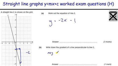 Drawing Y Mx C by How To Do Line Graphs Worked Exles Gcse Maths