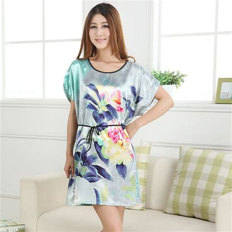 Pajama Sleeve Dress sleeve floral sleepwear dress robes