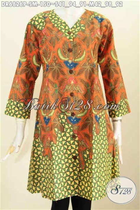 Baju Wanita Dress V dress batik krah v trend pakaian batik wanita masa kini