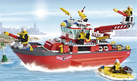 lego rc boat instructions lego boats lego city 7207 fire boat red lego city 7207
