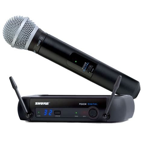 Shure Slx 24beta58 Wirelees Microfone shure pgxd24 pg58 digital handheld wireless microphone includes shure pg58 24 bit 48 khz