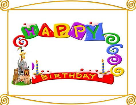 Birthday Card Template Clipart by Free Birthday Invitation Clipart Clipart Collection