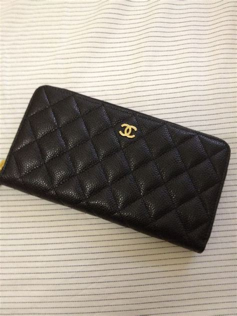 Clutch Chanel Woc Zip Caviar Hitam Ac33819 1 chanel caviar zip around wallet ooooooooooooo style fashion chanel caviar