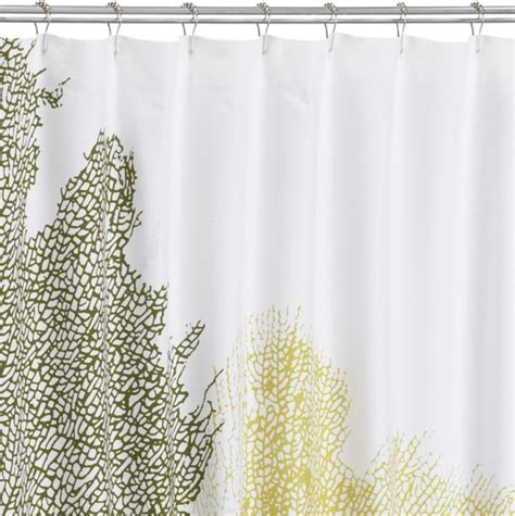 cb2 shower curtain fan coral shower curtain in shower curtains cb2 my