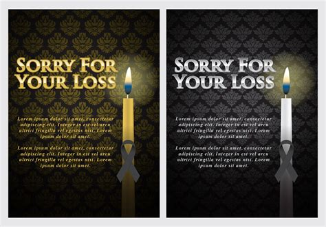 sorry for your loss card template mourning cards free vector stock graphics images
