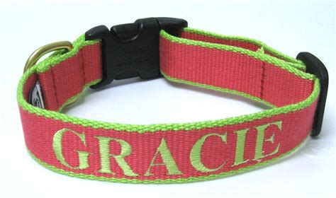 collars with name personalized upcountry bamboo collar custom embroidered