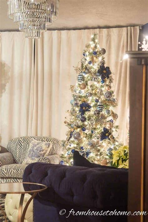 keeping cats from mantel decorations and trees beautiful blue and white home decorating ideas