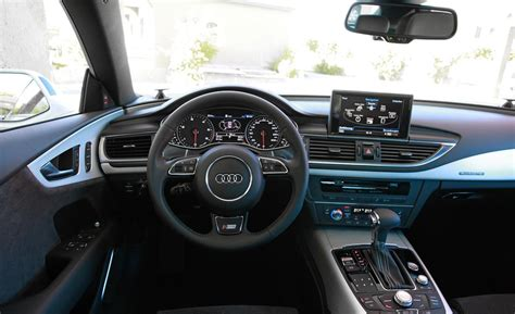 Audi A7 S Line Interior car and driver